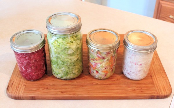 jars of sauerkraut