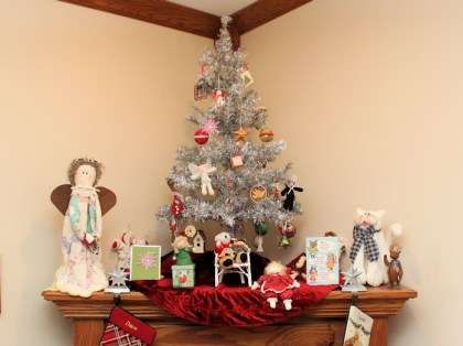 Christmas tree on mantel