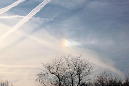 sky photo with sun dog