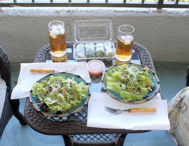 lunch on our lanai in Hilo