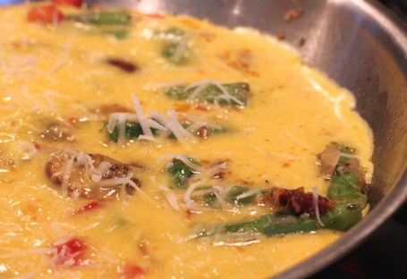 frittata with frozen asparagus