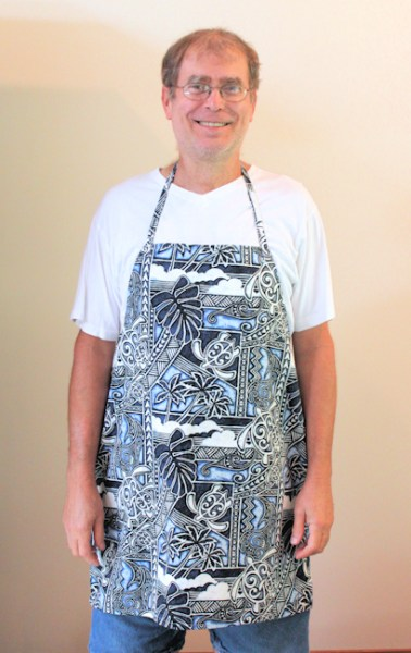 me in my new apron