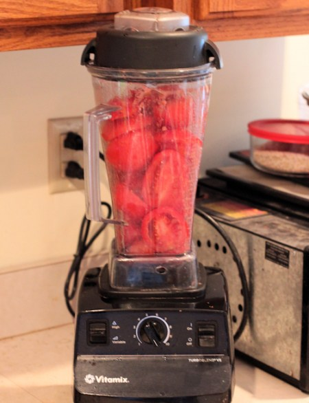 using Vitamix to puree tomatoes