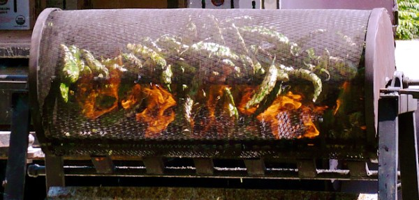 Roasting Chile Peppers (photo from Wikimedia Commons)