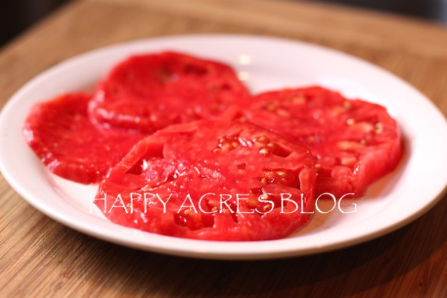 slices of Vinson Watts tomato