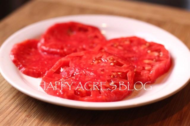slices of Vinson Watts tomato