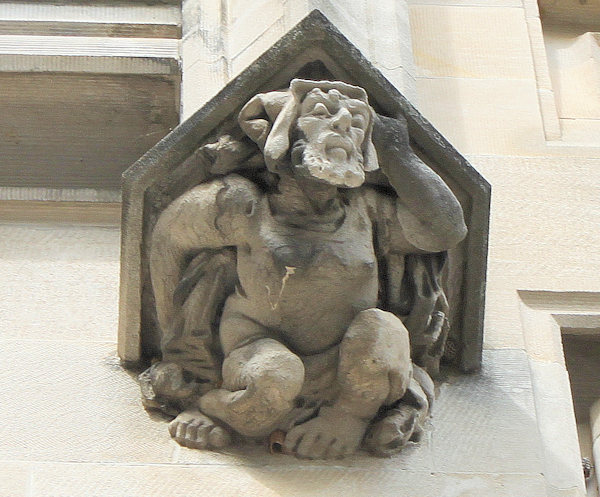 one of the many carved
