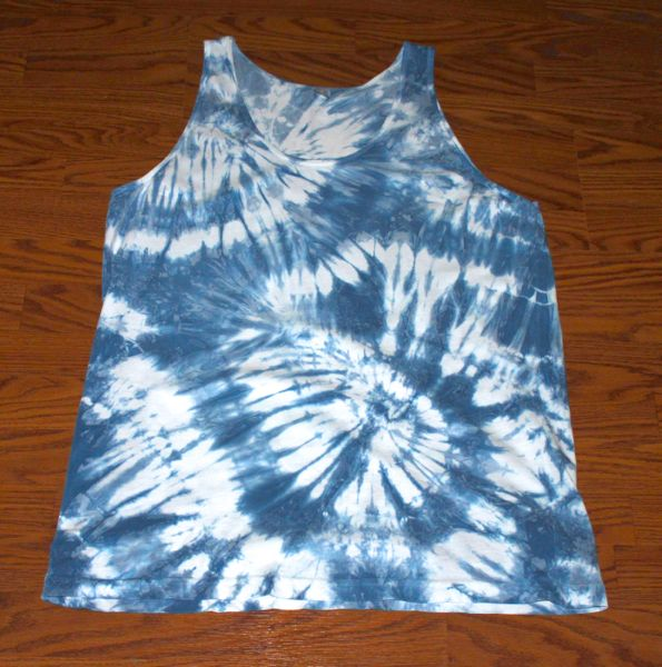 indigo dyed tank top