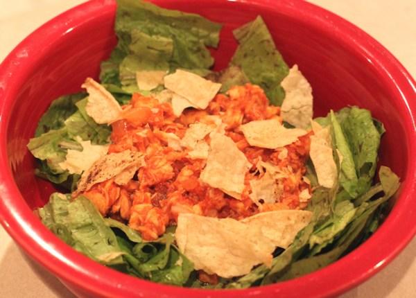 taco salad using leftover turkey