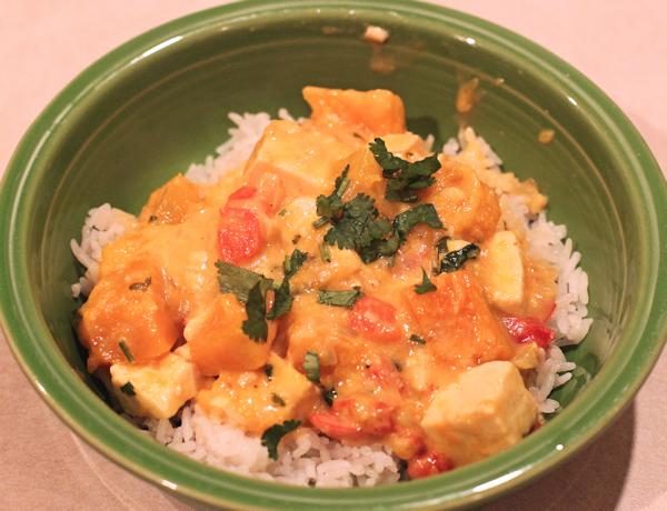 Thai Squash and Tofu Curry