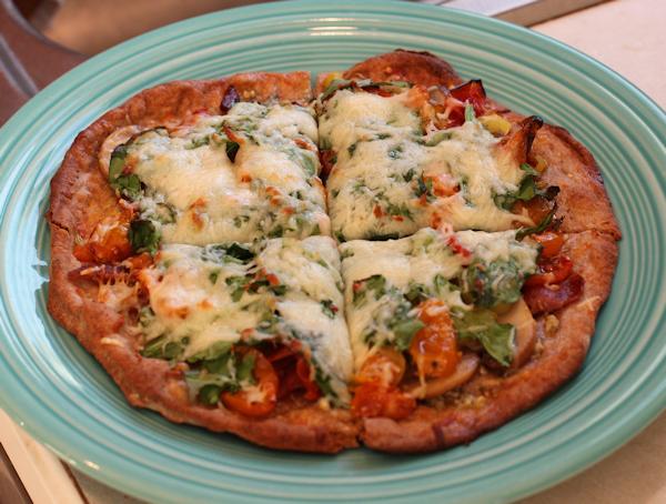 pita crust pizza