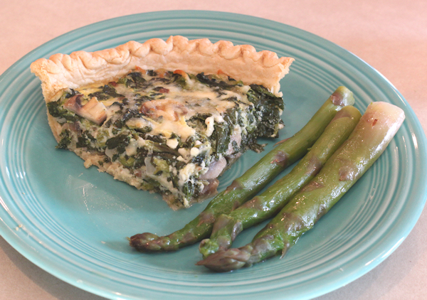 Spinach Pie with asparagus