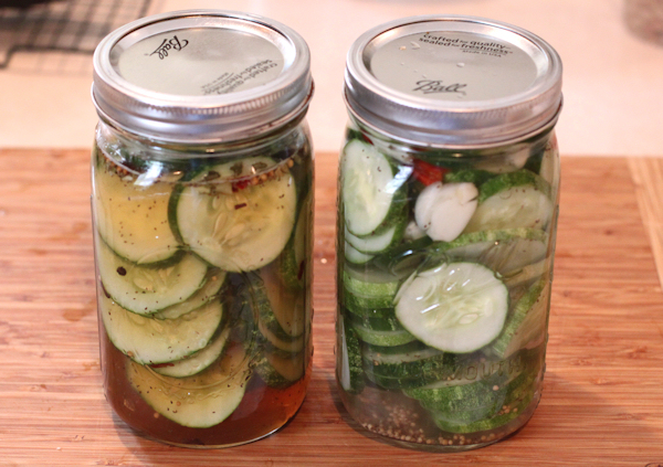 lacto-fermented cucumbers