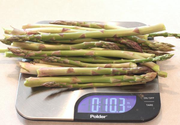 final asparagus harvest of 2015
