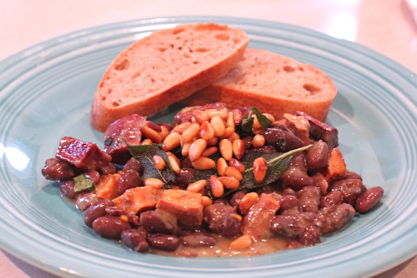 Rio Zape Beans and Sweet Potatoes
