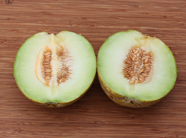 sliced Diplomat melon