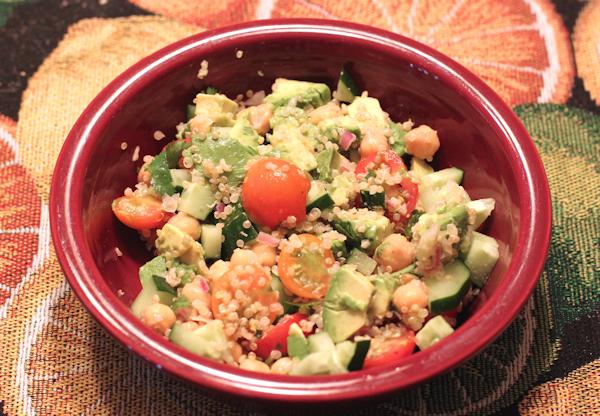 Quinoa Chickpea and Avocado Salad