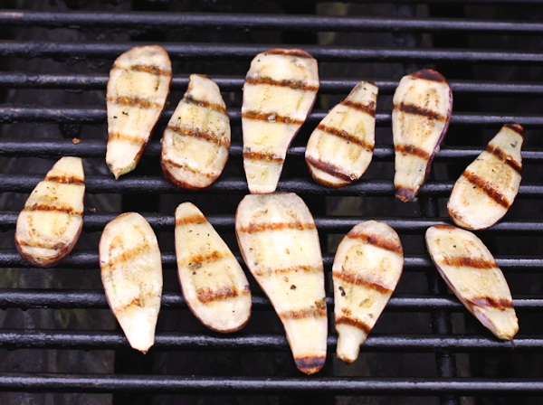 Fairy Tale eggplant on the grill