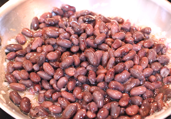 cooked Rio Zape beans