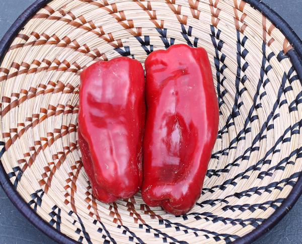 ripe Big Bertha peppers