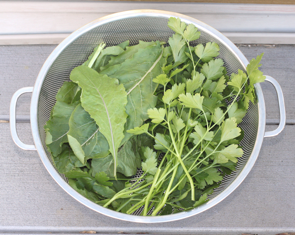 arugula and parsley for pizza