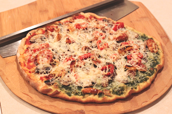 the finished pizza