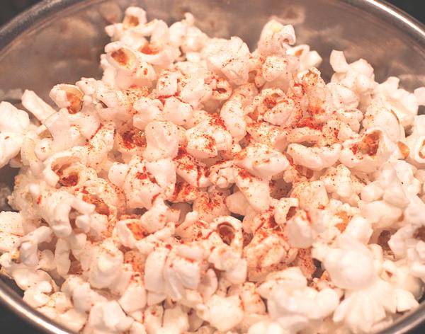 smoked paprika on popcorn