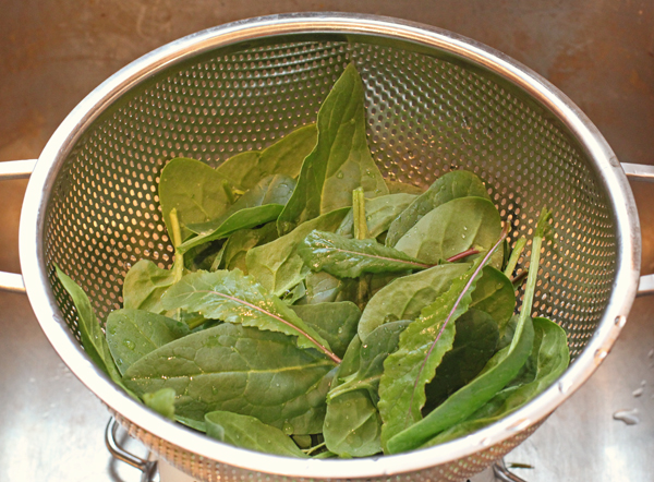 spinach and arugula for pizza