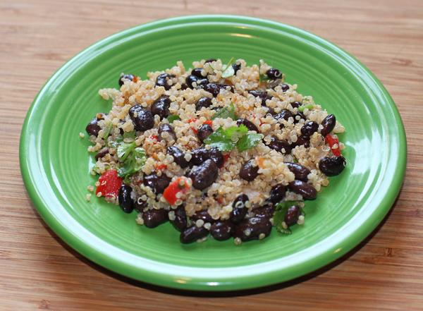 black beans and quinoa