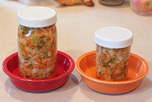 kimchi fermenting