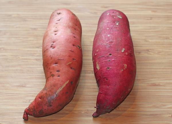 Barberman(L) and Garnet(R) sweet potatoes