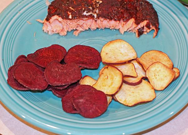 Purple and Korean Purple sweet potato chips