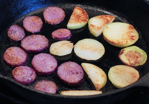 roasted radish and kohlrabi