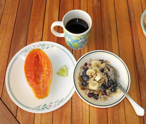 breakfast on the lanai