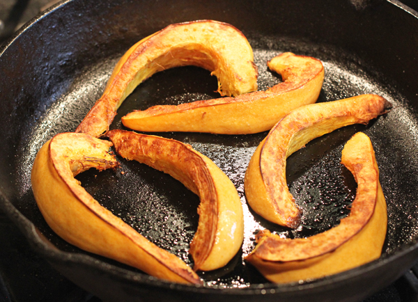 roasted slices of Thelma Sanders squash