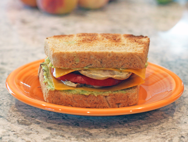 eggplant and tomato sandwich
