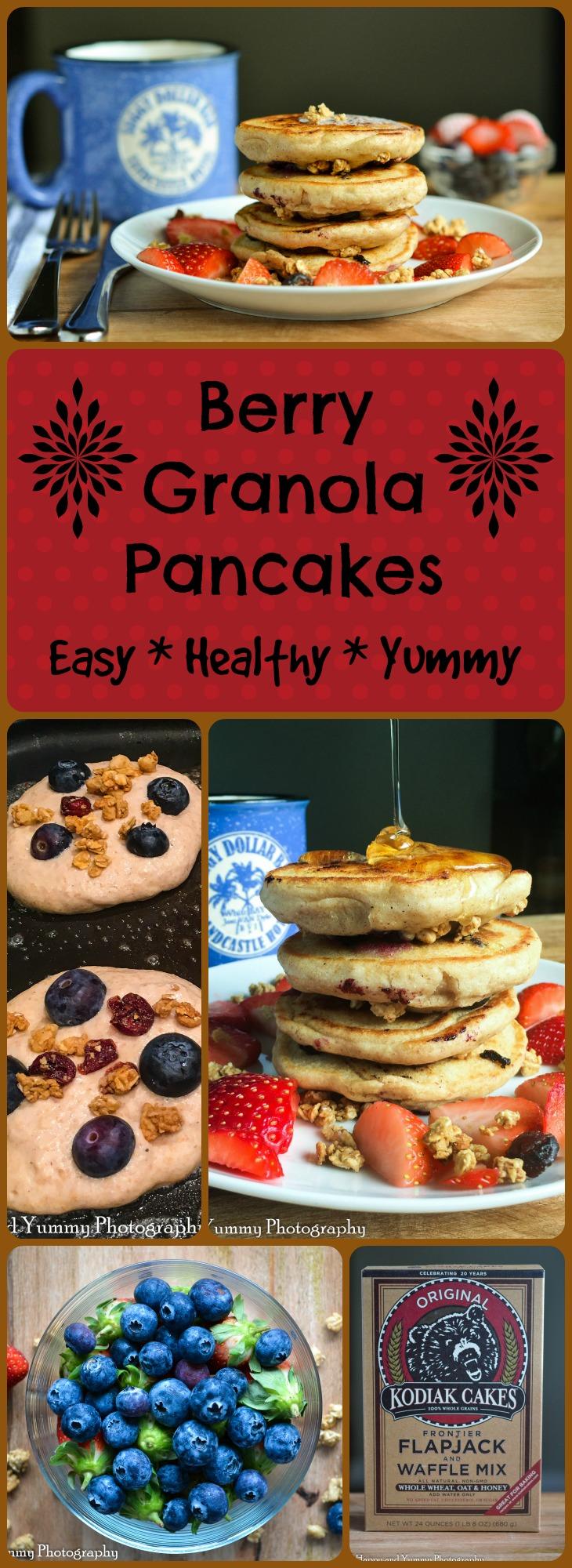berry granola pancakes long