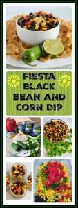 black bean corn dip long image
