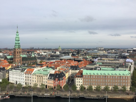 View over Copenhagen from the tower of Christiansborg