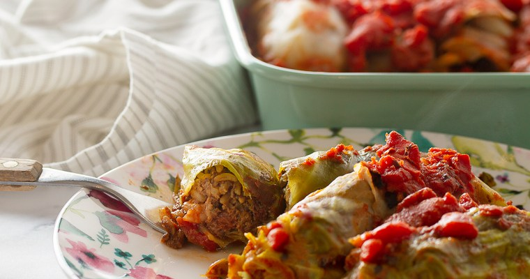 Vegan Meatless Mushroom Stuffed Cabbage Rolls