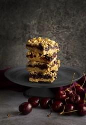 Vegan & Gluten-Free Cherry Crumb Squares