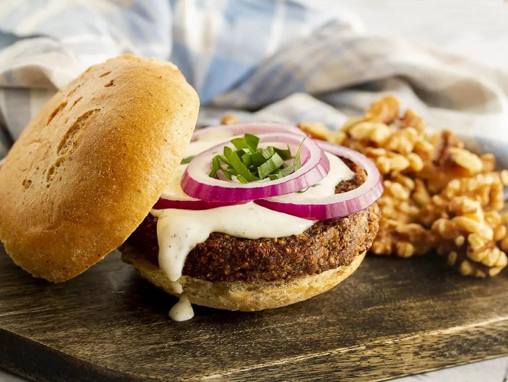 Gluten Free Portobello Mushroom  Vegan Burgers