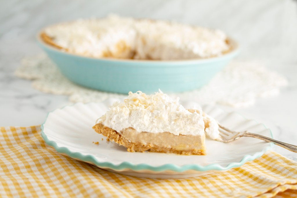 Vegan, Gluten-Free, Dairy-Free, Banana-Coconut Cream Pie