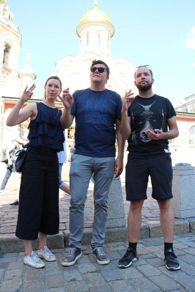 Inspiriert von den orthodoxen Heiligendarstellungen in den Kirchen