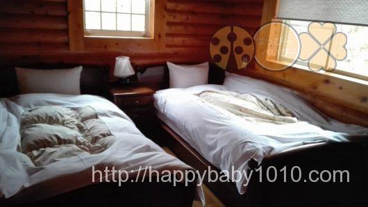 もりのくに 千頭 キャンプ コテージ ベッドルーム