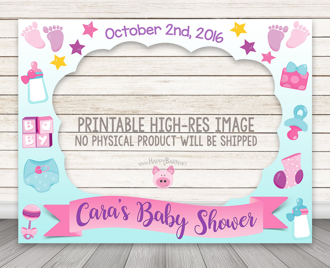 PRINTABLE Girl Baby Shower Photo Booth Frame