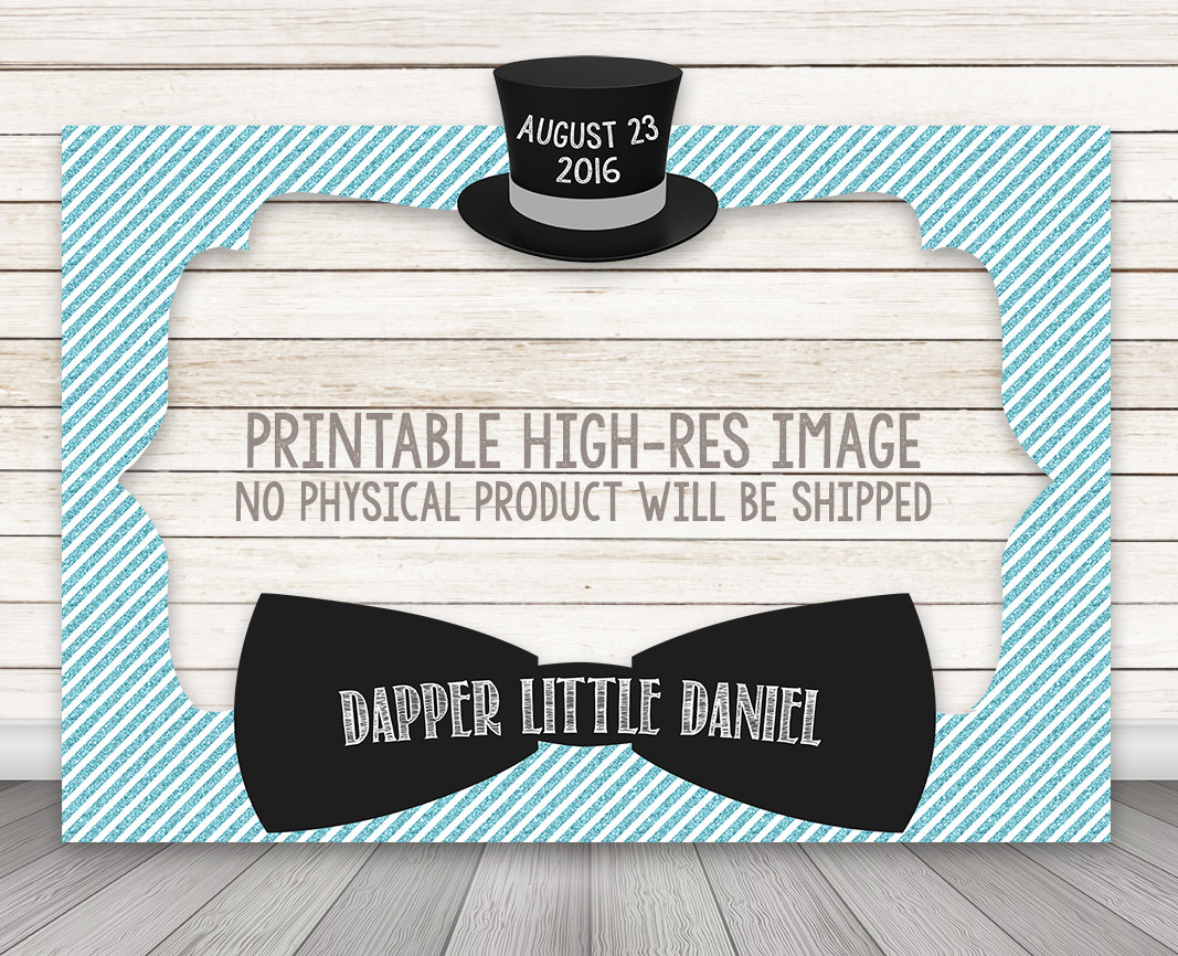 PRINTABLE Dapper Bow Tie Little Man Baby Shower or Birthday Party ...