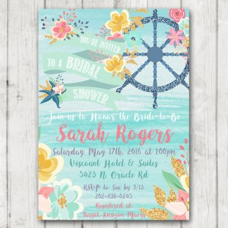 Printable invites archives page 2 of 2 happy barn printable nautical floral bridal shower invitation anchor wheel flowers filmwisefo Images