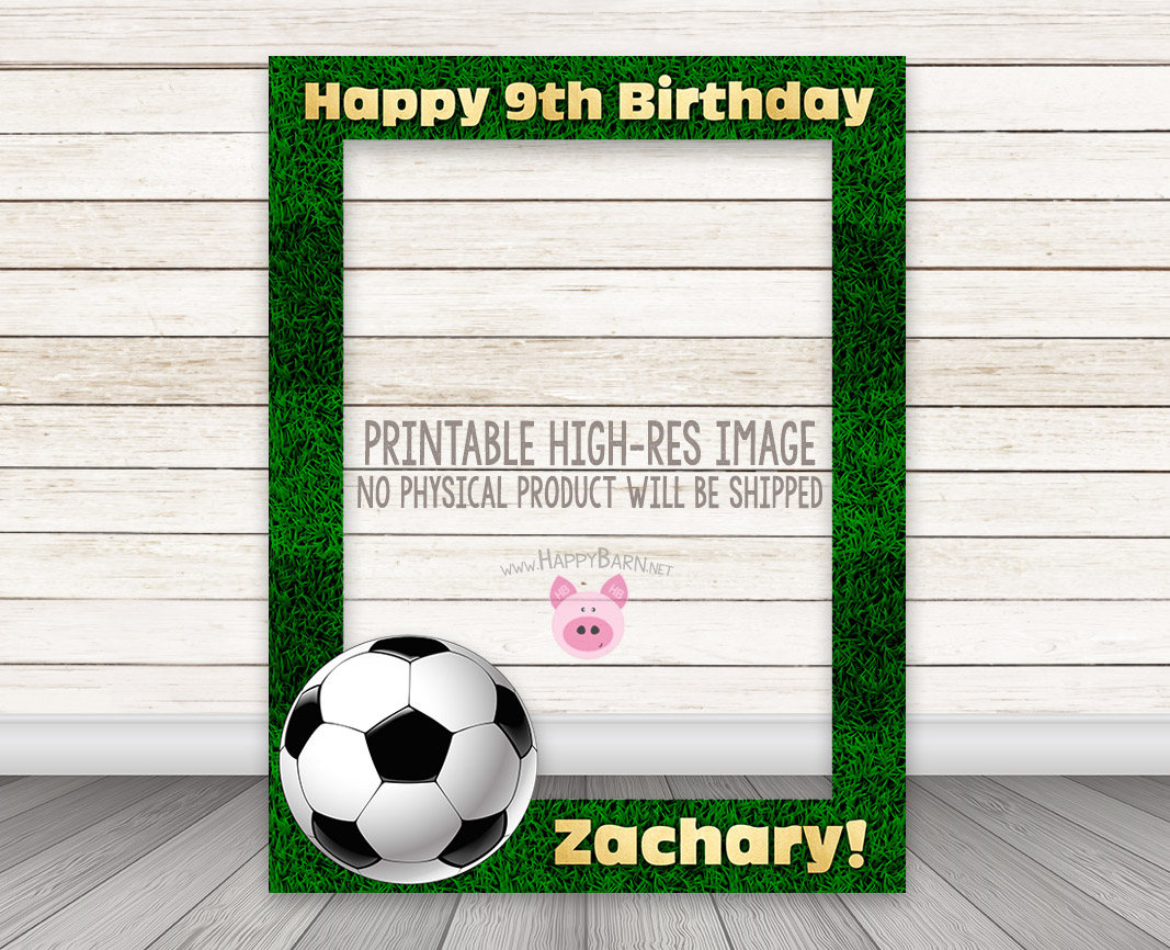 PRINTABLE Soccer Photobooth Frame - Football Photo Booth Frame ...