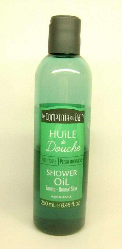 huile douche comptoir du bain